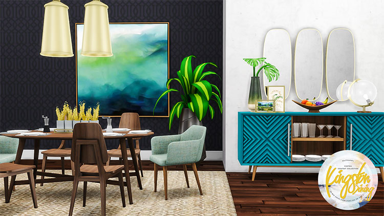 Kingston Dining Set Midcentury CC - TS4