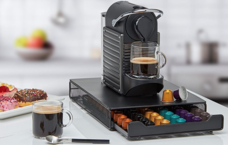 KitchenBrothers cuphouder met lade Nespresso