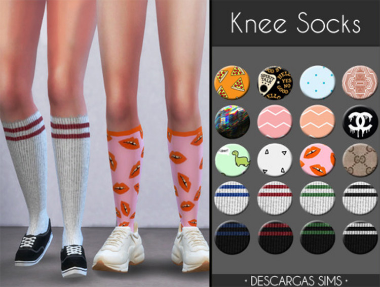 Knee Socks by Descargas Sims Sims 4 CC