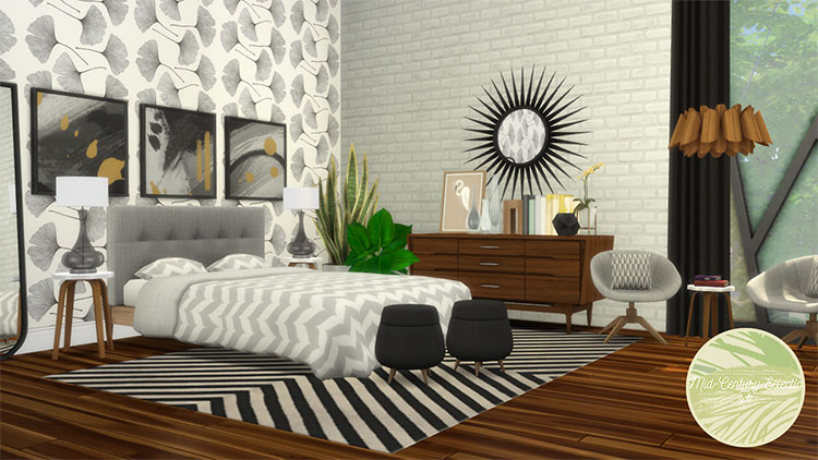 Mid-Century Eclectic Set CC for TS4