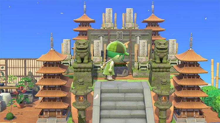 Monument Area with Pagoda - ACNH Idea