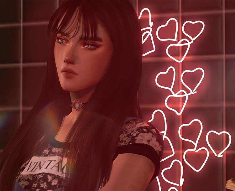 Neon Sign Set for Sims 4