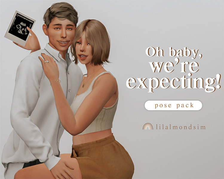Oh Baby, We're Expecting! Pose Pack by lilalmondsim Mod - TS4