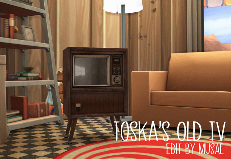 Old Functional Television CC - TS4