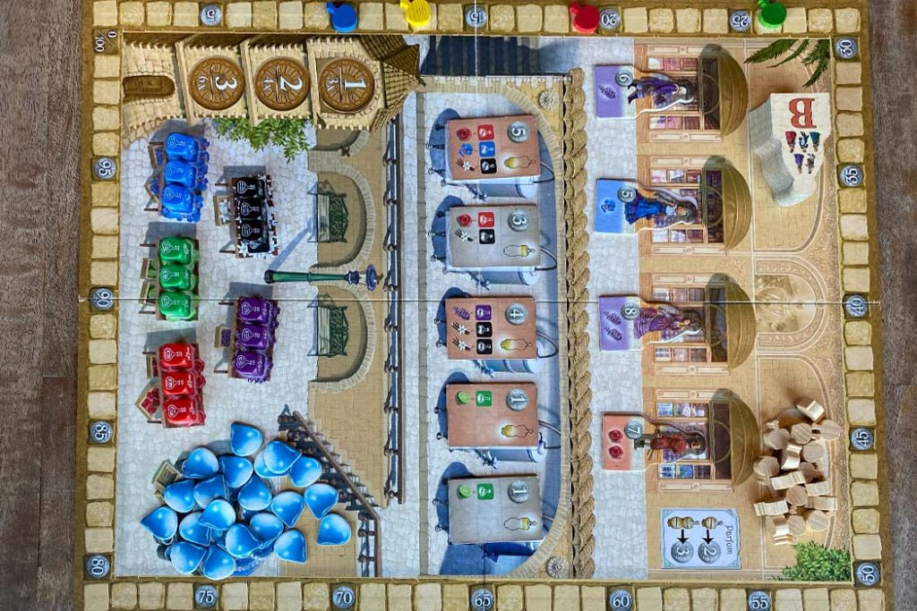 Parfum Board Game Play Area