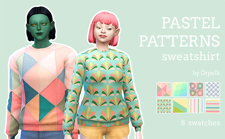 Pastel Patterns Sweatshirt - TS4 CC