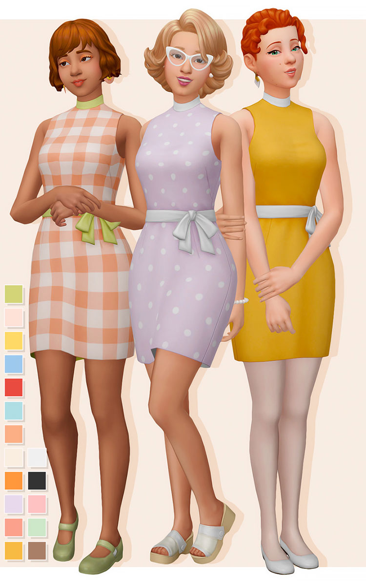 Peggy Dress - Midcentury Modern Sims 4 CC