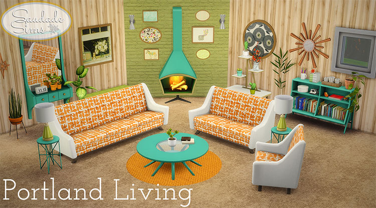 Portland Living Set CC - TS4 Midcentury Modern Furniture