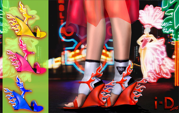 Prada Flame Sandals Mod - TS4 CC