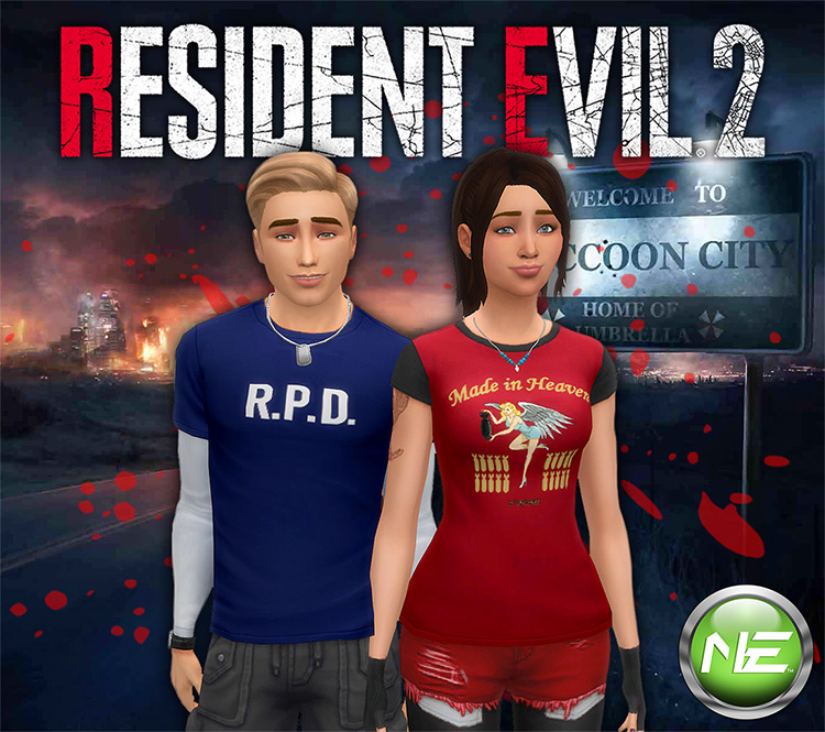 Resident Evil 2 T-Shirts - The Sims 4