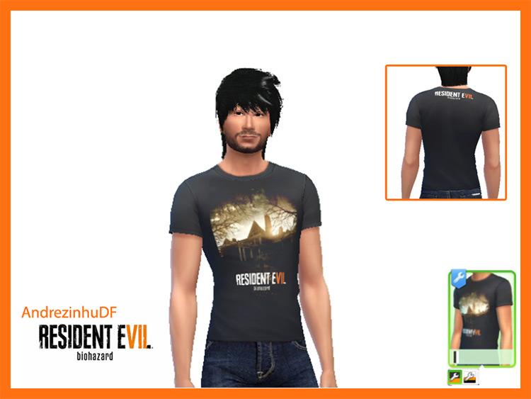 Resident Evil 7 T-Shirts Sims 4 CC