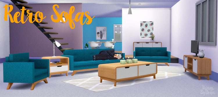 Retro Sofa CC for The Sims 4