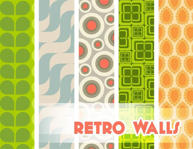 Retro Walls for Midcentury Modern Home - TS4 CC