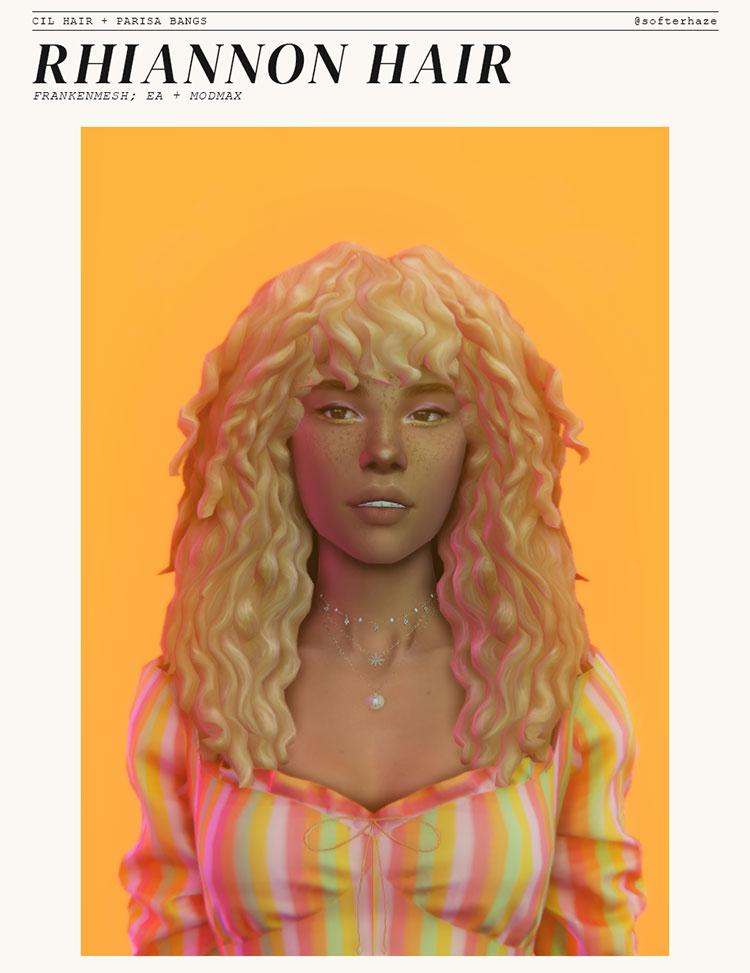 Rhiannon Hairdo 1980s Style - Sims 4 CC