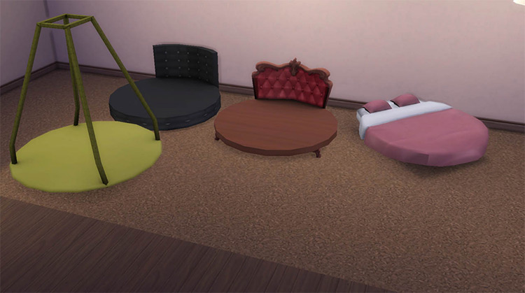 Sims 4 Round Bed CC & Mods (All Free) –