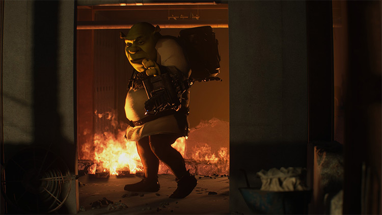 Shrek Over Nemesis in RE3 Remake