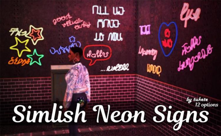 Simlish Signs Sims 4 CC