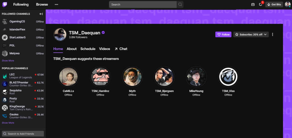 Top 25 most followed Twitch Streamers in 2021