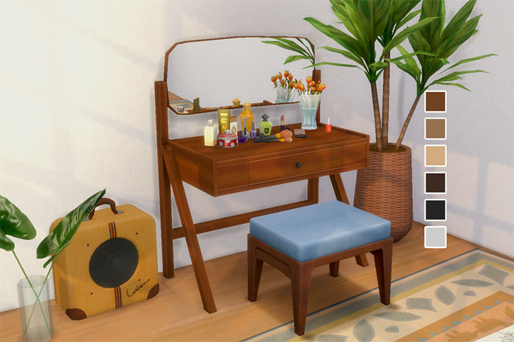 Vanity Table CC for The Sims 4