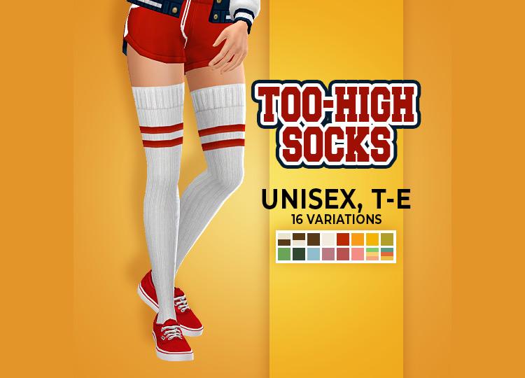 """Vintage Athletics """"Too-High Socks"""" by pleyita TS4 CC"""