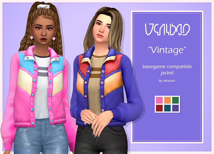 Vintage Jacket CC for The Sims 4