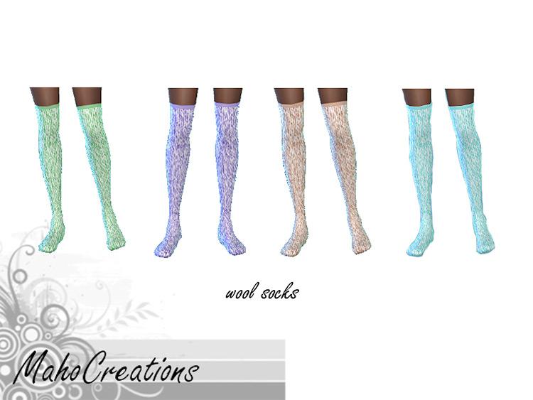 Wool Socks by MahoCreations Sims 4 CC