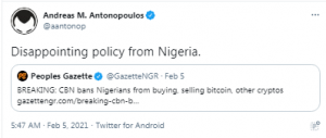 Central Bank of Nigeria Denies It Has Placed New Restrictions on Cryptocurrencies — Uses Debunked Claims to Justify New Directive – Emerging Markets Bitcoin News