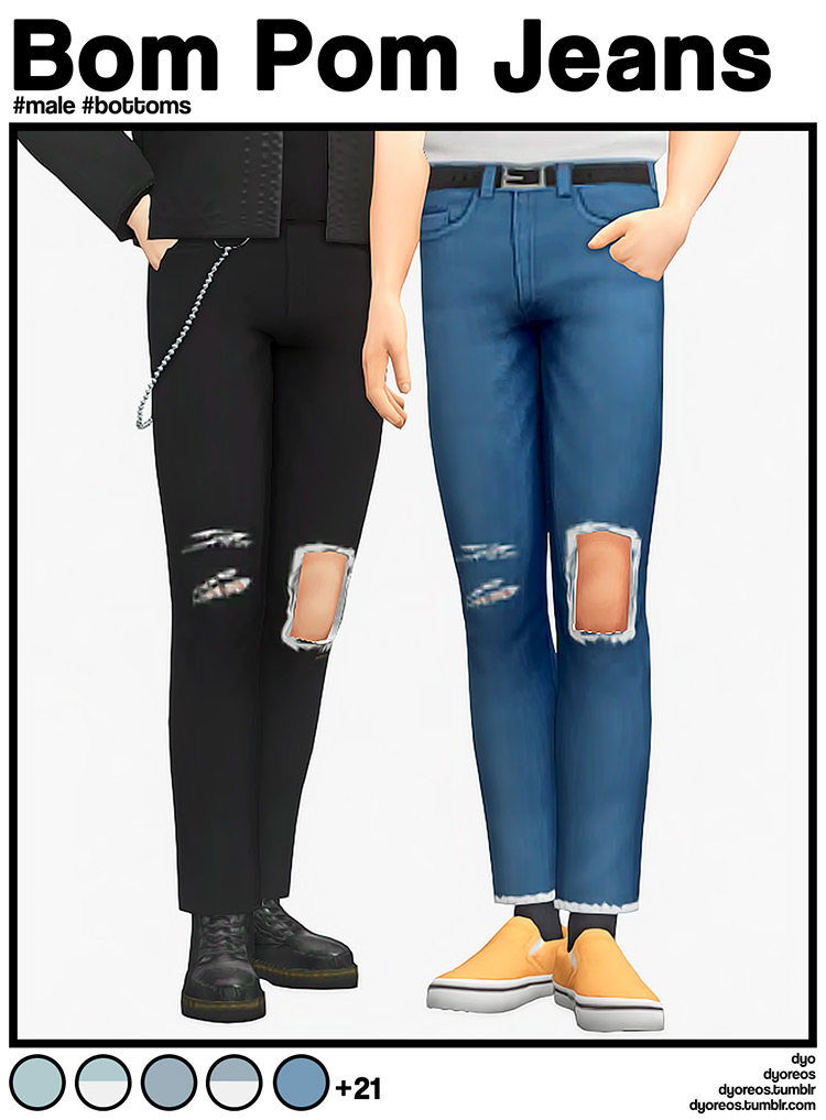 Best Ripped Jeans CC (For Guys & Girls) –
