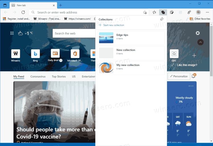 Edge Dev 90.0.782.0 released with updated Downloads and Collections