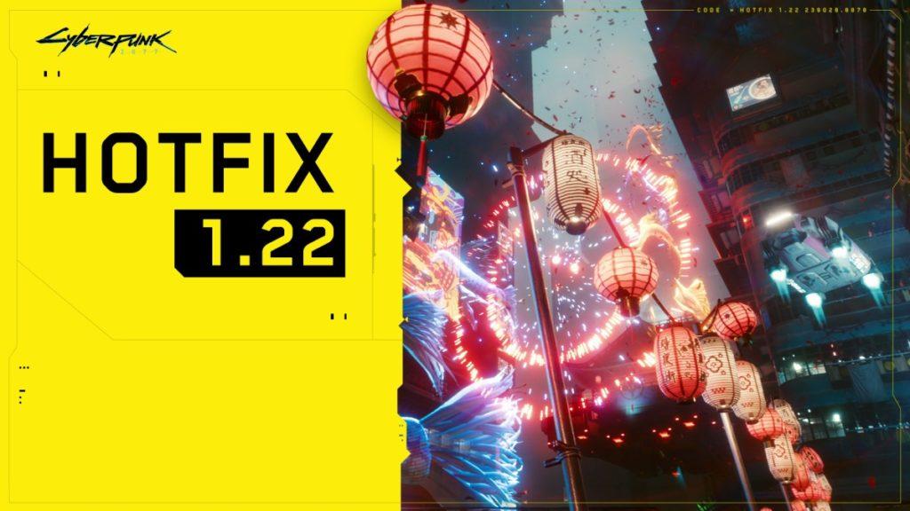 Cyberpunk 2077 Hotfix 1.22 Released