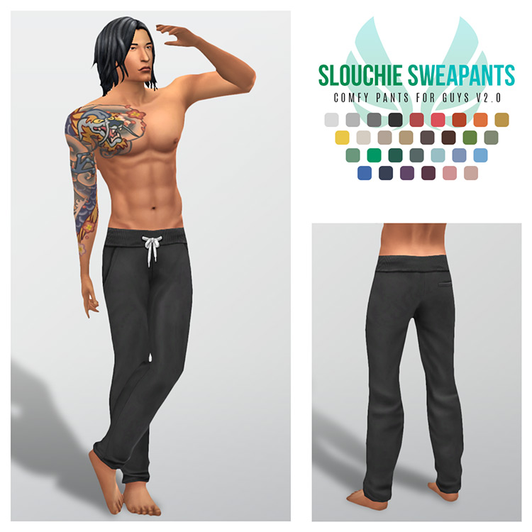 Best Sims 4 Sweatpants & Joggers CC (Guys + Girls) –