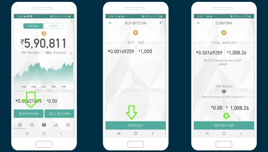 How to Buy Bitcoin in India from Unocoin Wallet