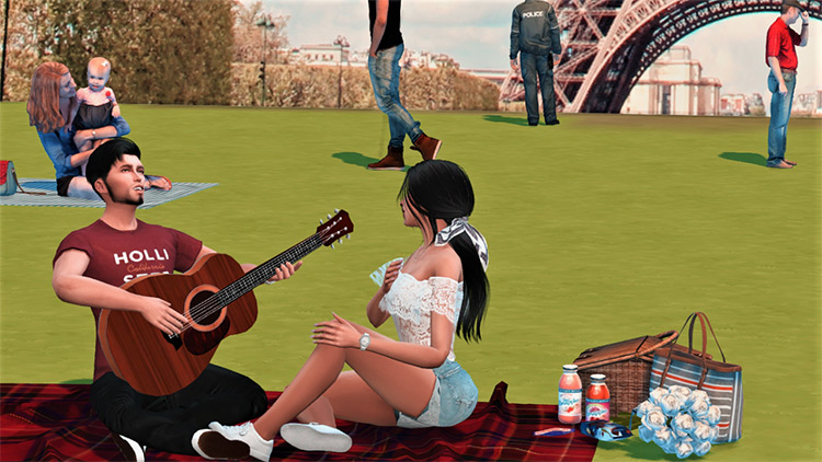 Sims 4 Picnic CC, Mods & Poses (All Free) –