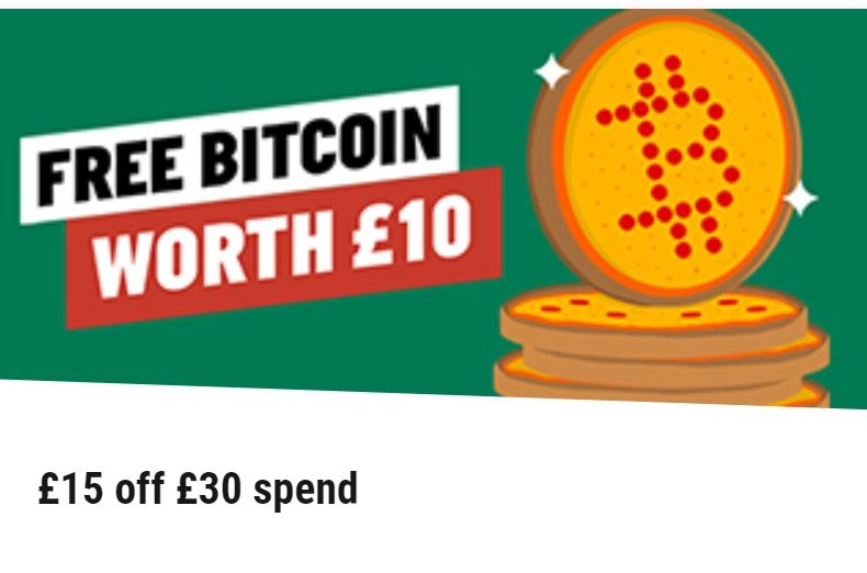 Papa John's Giving Away BTC With Pizza Purchases in UK