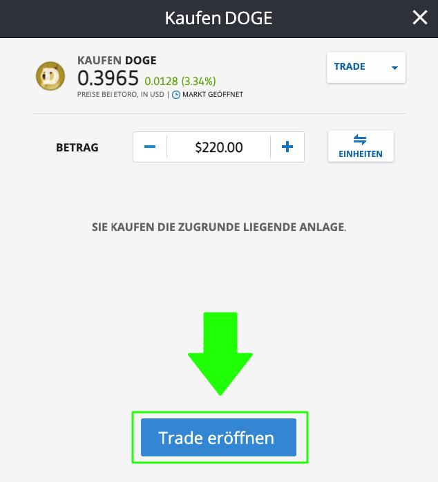 Dogecoin kaufen per PayPal in unter 7 Minuten